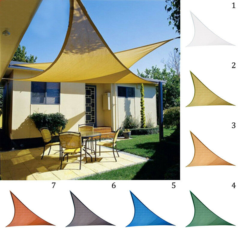 Details About Waterproof Sun Shade Sail Garden Patio Awning Canopy Sunscreen Block Triangle
