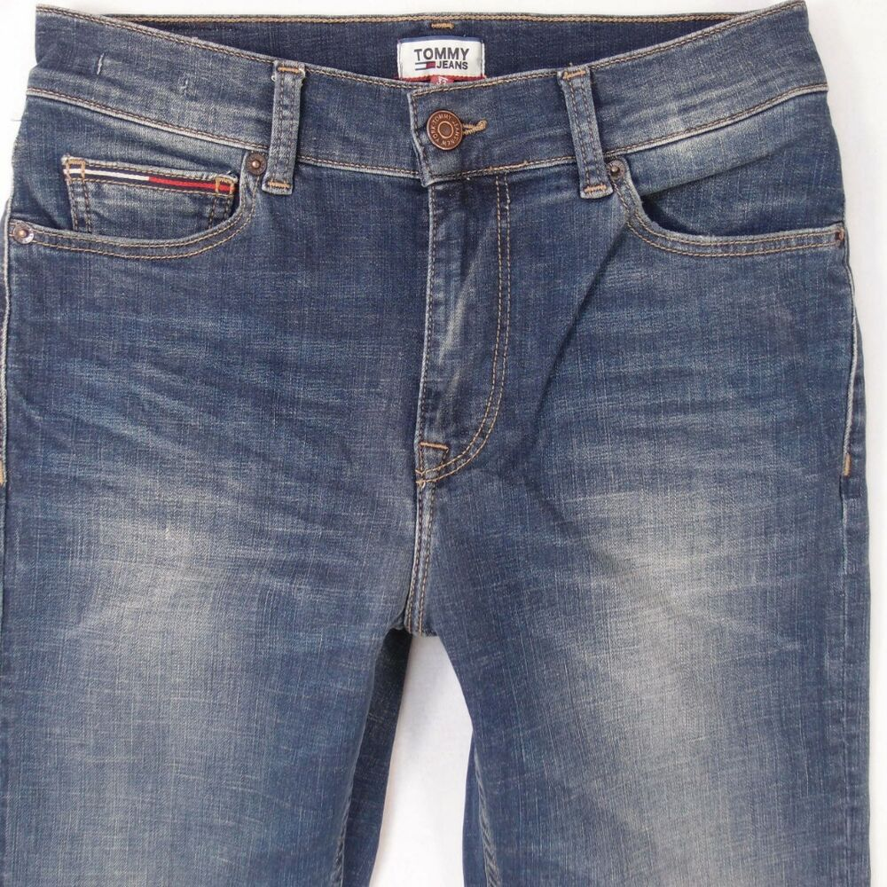 c2a596b75 Details about Womens Tommy Hilfiger HIGH WAIST STRAIGHT Stretch Blue Jeans  W29 L28 UK Size 10