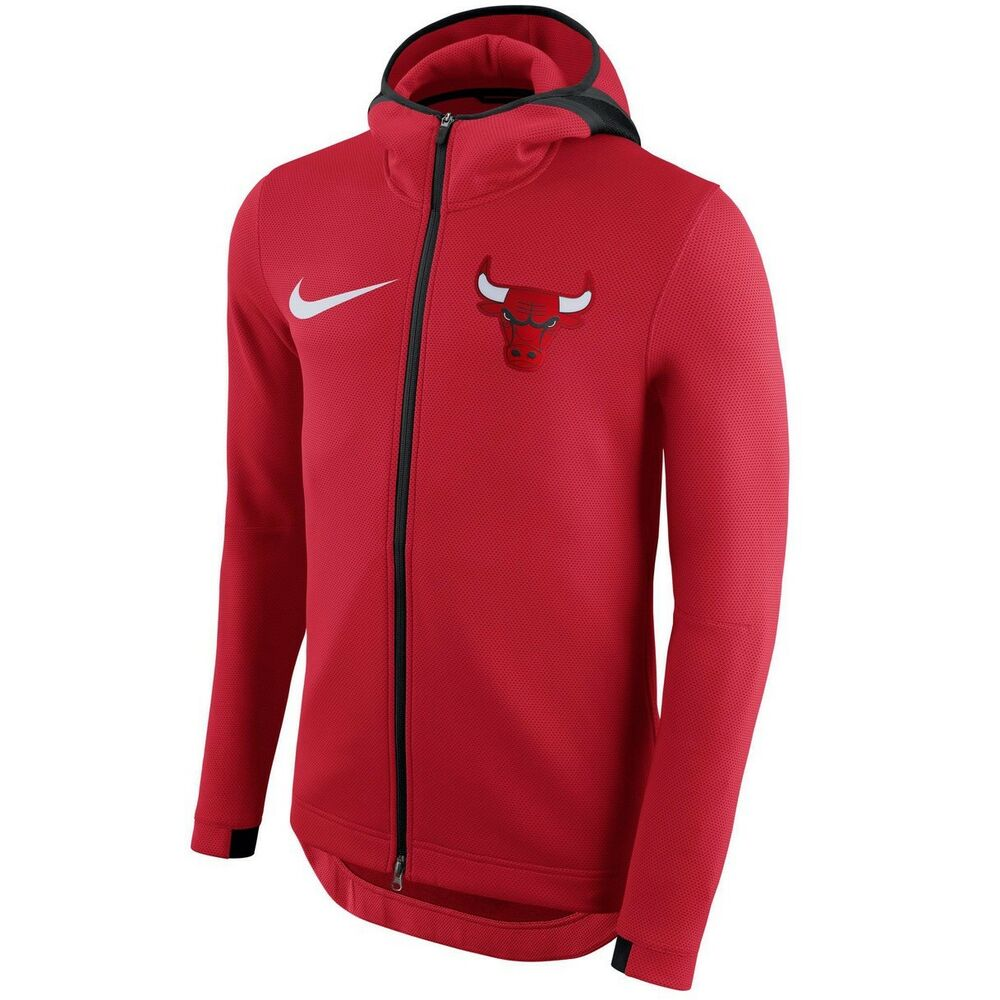 4ec19d9cb7f Details about CHICAGO BULLS Nike NBA THERMA Flex On-Court Showtime Hoodie  Mens L LARGE