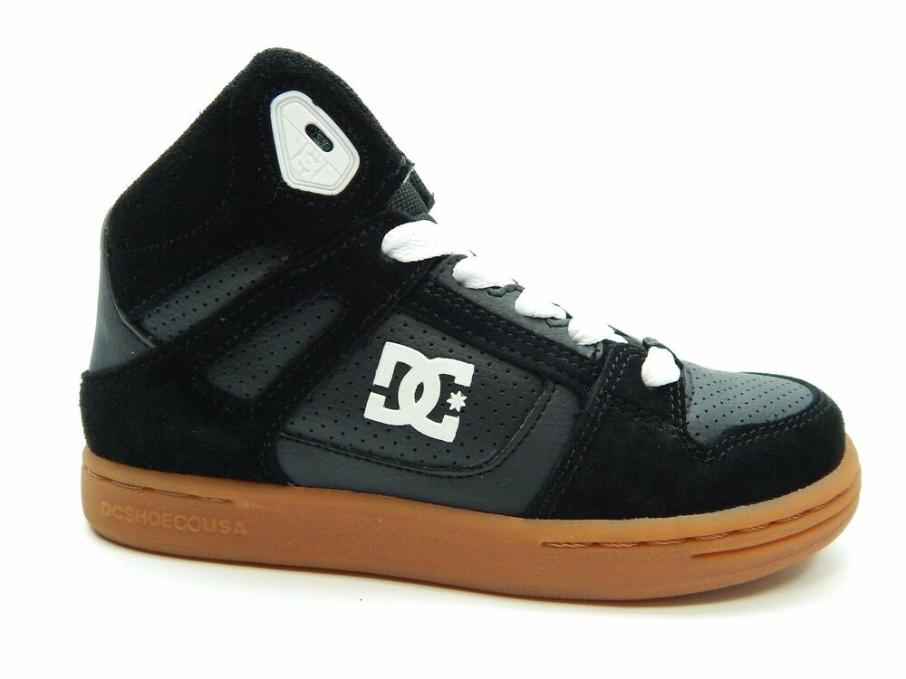 Wheat Hightops 302676B New//Display DC Shoes Youth Rebound Black