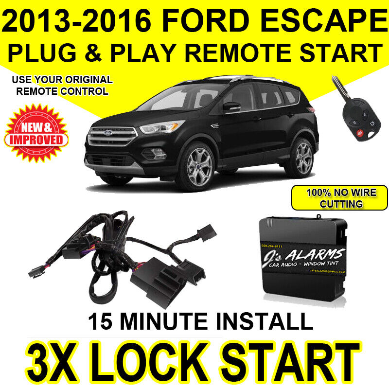 2013 - 2016 Ford Escape Remote Start Plug and Play Easy Install 3X A Ford Escape Remote Starter Wiring on