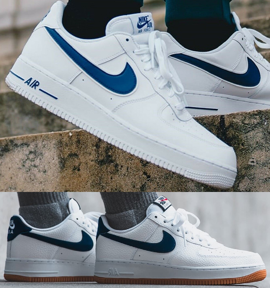 huge selection of 7e042 57cdc Details about Nike Air Force 1 One Low 07 Sneaker Men s Lifestyle Shoes  White Deep Royal