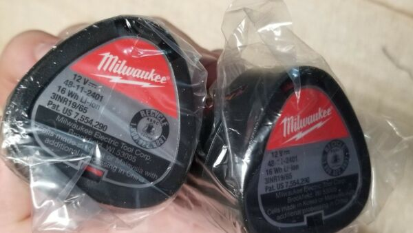Milwaukee 48-11-2411 M12 RedLithium Compact 1.5Ah Battery2-Pk