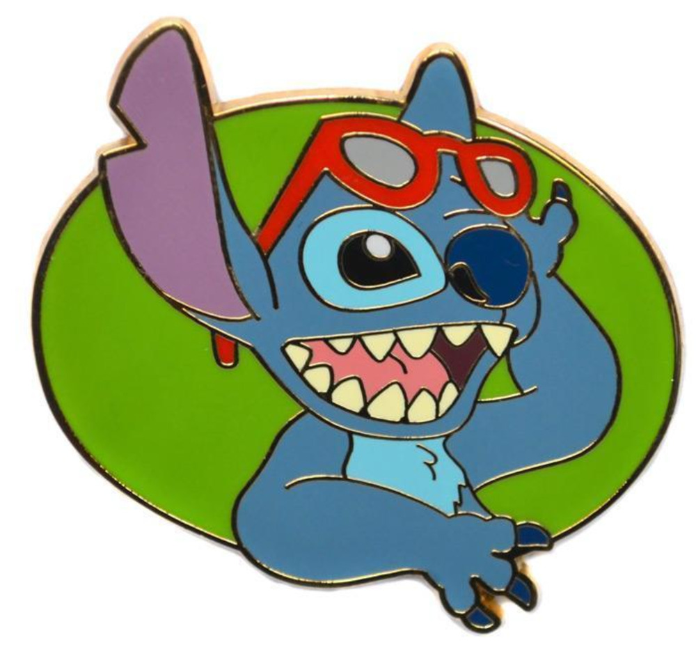 5342d2cb5e3288 Details about disney pin stitch with red sunglasses lifting shades over  forehead hand jpg 1000x929 Stitch