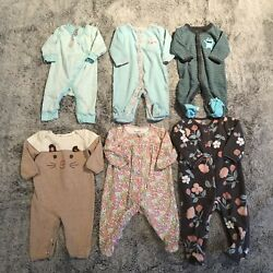 Kyпить Baby Girl Pajama 0-3 month Lot на еВаy.соm