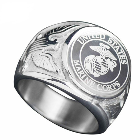 img-USA Military Ring United States MARINE CORPS US ARMY Men Signet Fashion Jewelry