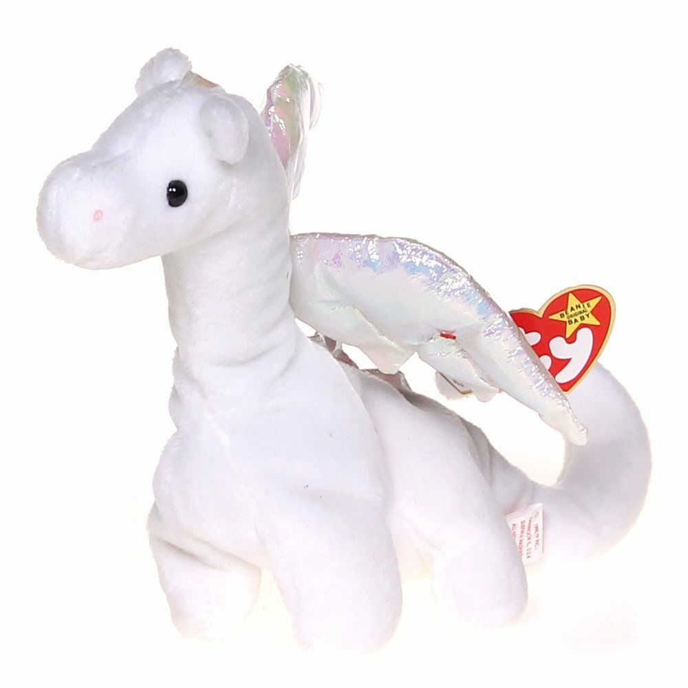 b6888c38244 Details about Vintage TY Beanie Baby Magic The Dragon 1ST Edition Rare  Retired 1995