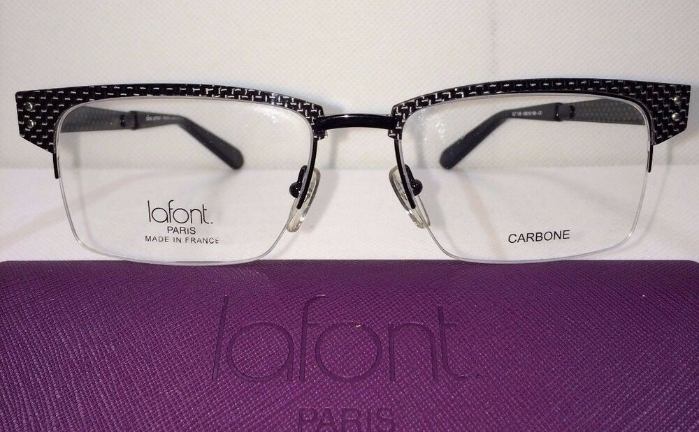 ad4e07ec73 NEW Jean Lafont Olt 100 Black Size 55 18 150 Eyeglasses Frames Eye Glass