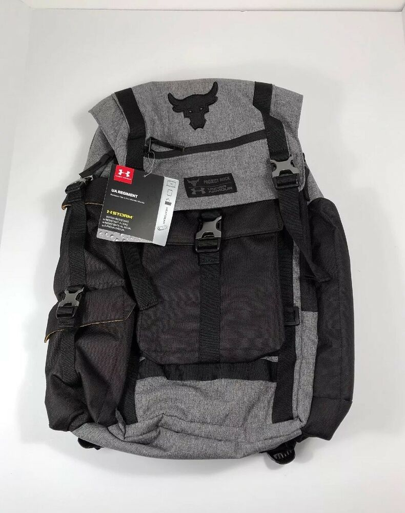 d0a58bb2e New Under Armour Project Rock Regiment Backpack Bag In Gray - Rare Edition  | eBay