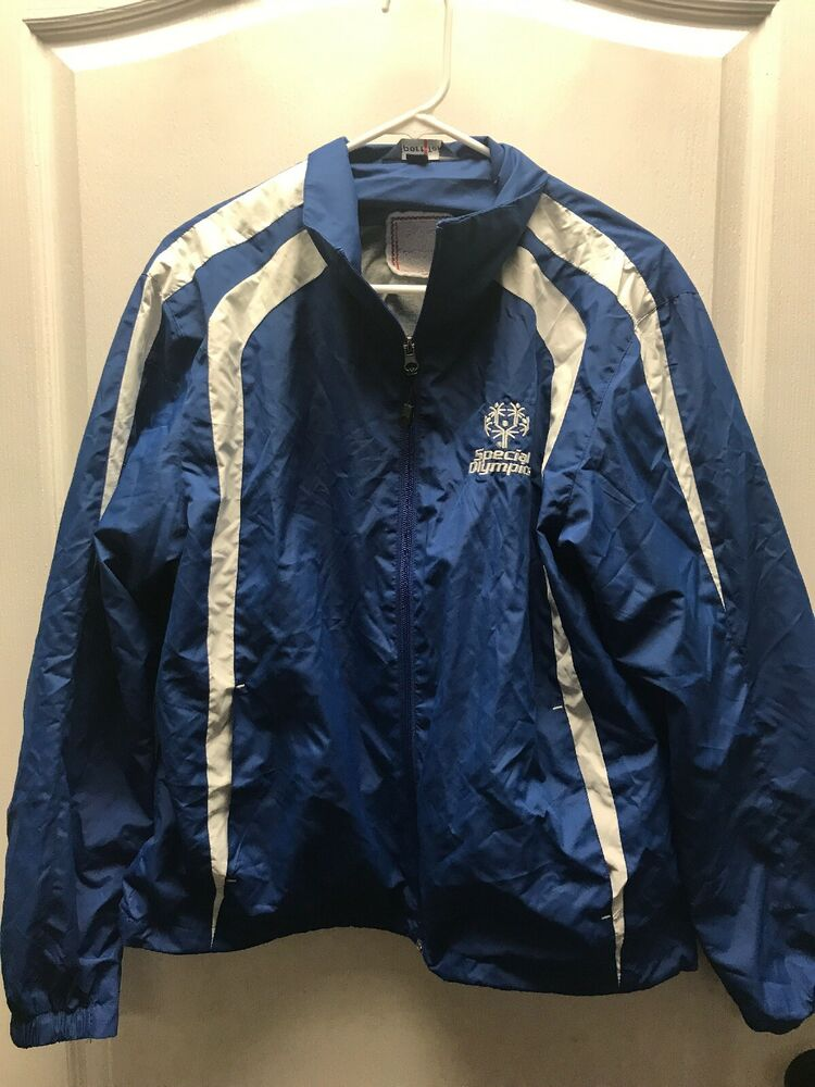 Easter Seals Special Olympics Blue Zip Up Lightweight Wind