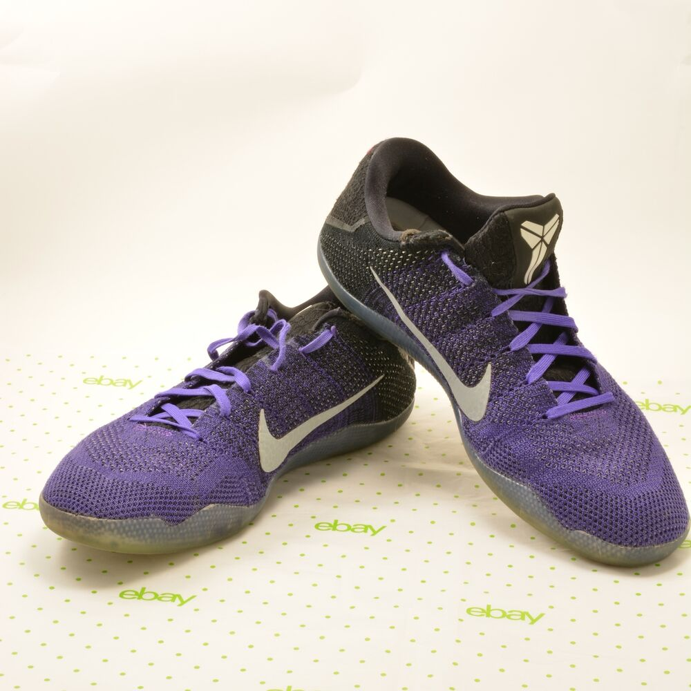 check out 65614 7e44f Details about NIKE KOBE XI Men s 14 ELITE LOW (EULOGY) Hyper Grape Purple  Mamba 822675 510