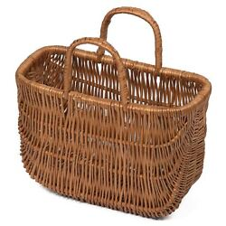 Wicker Shopping Basket / Two Handles Small