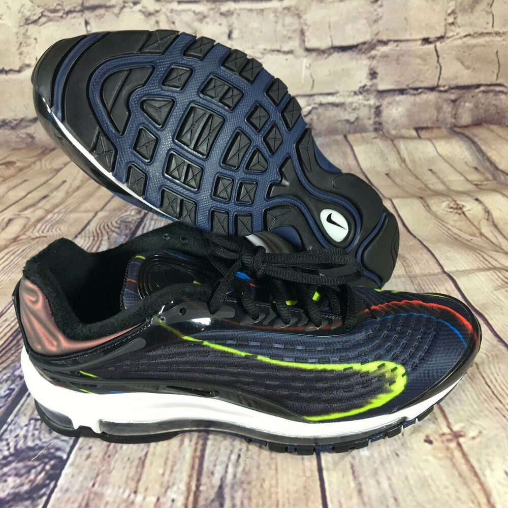 7dfa4fdb71 Details about Nike Air Max Deluxe Black Midnight Navy Womens size 10 AQ1272- 001 New