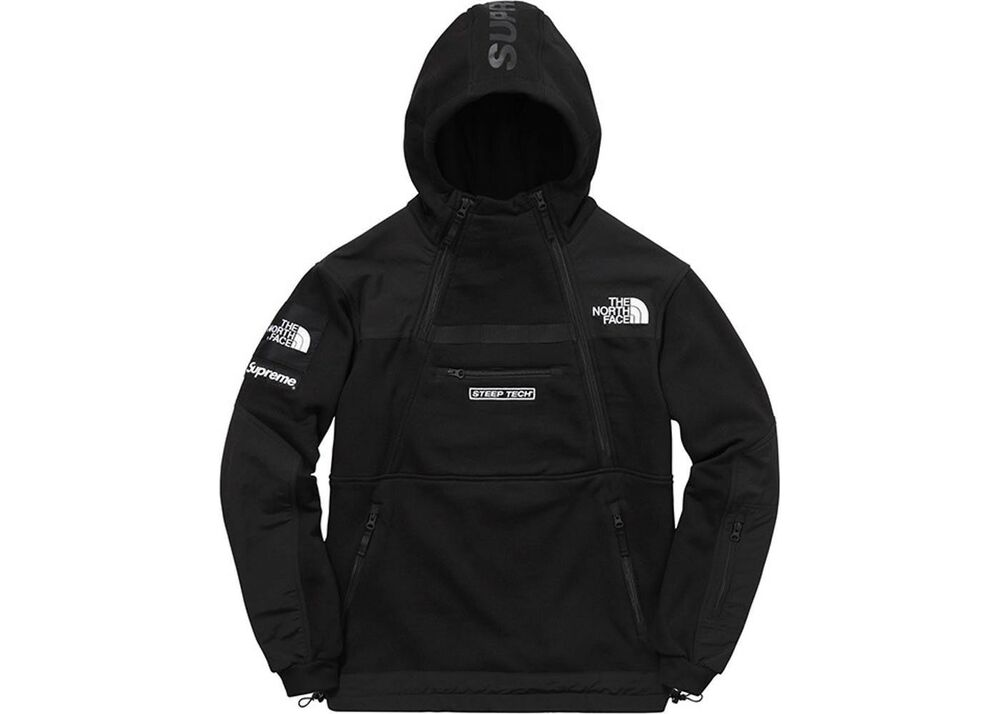 f41891fe26 Supreme The North Face Steep Tech Hooded Sweatshirt Black new with tags