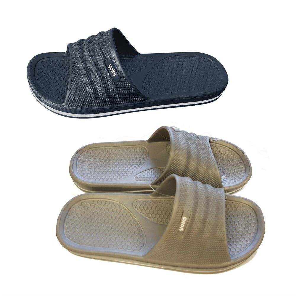 587f60bac40 Mens Pool Shoes Flip Flop Mule Sandal UK Size 7 8 9 10 Beach Holiday Summer  Grey