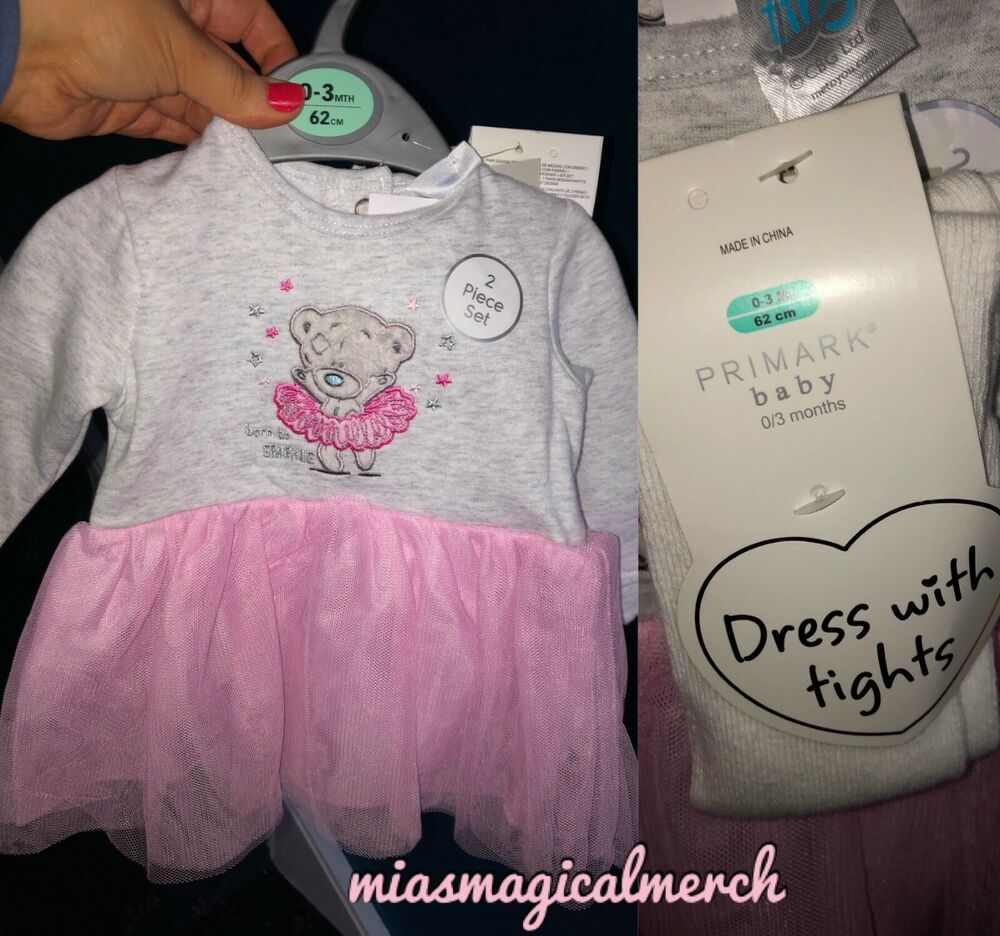 a9d6a7d59942 Brand New Baby Girl's Primark Me To You Ballerina Tutu Dress With Tights |  eBay