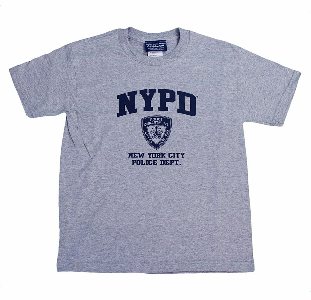 d6aebd540 Details about NYPD Kids Short Sleeve Screen Print T-Shirt Gray
