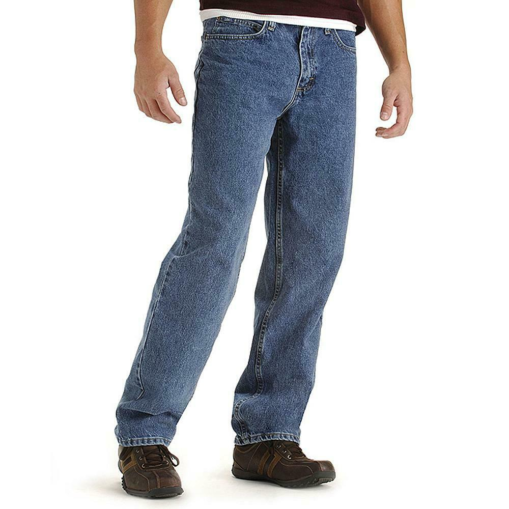 71312395 Details about LEE 100% Cotton Denim Pepper Stone Relaxed Fit Blue Jeans - 40