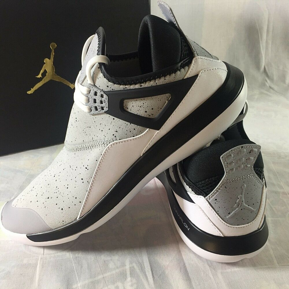 a7fbca611614e0 Details about Nike Air Jordan Fly 89  Men s Size 10 Running Shoes Wolf Grey  Cement Black NEW