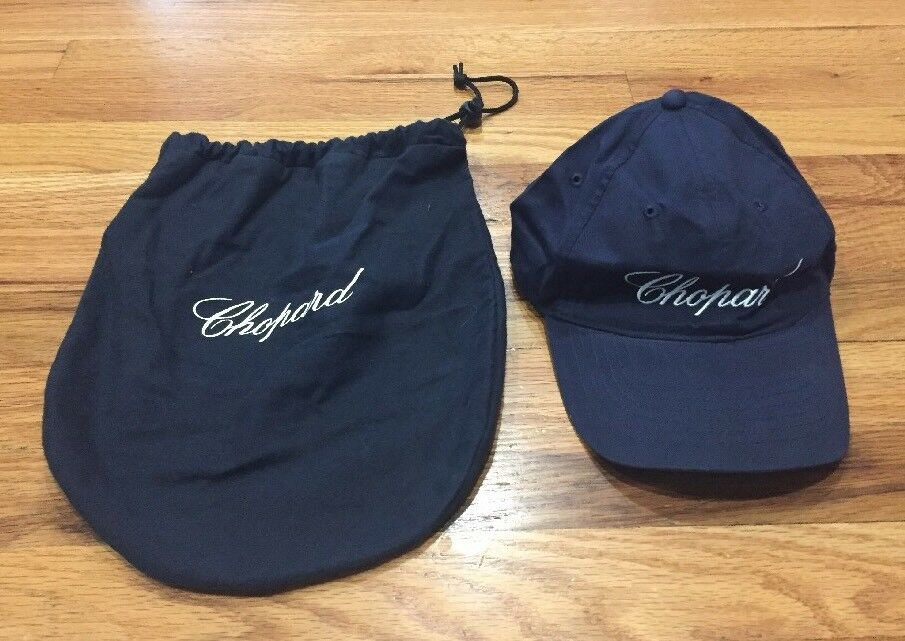 8d964b9e6d0 Details about New chopard luxury navy blue cap hat And Dust Bag very rare!  One Size Fits All