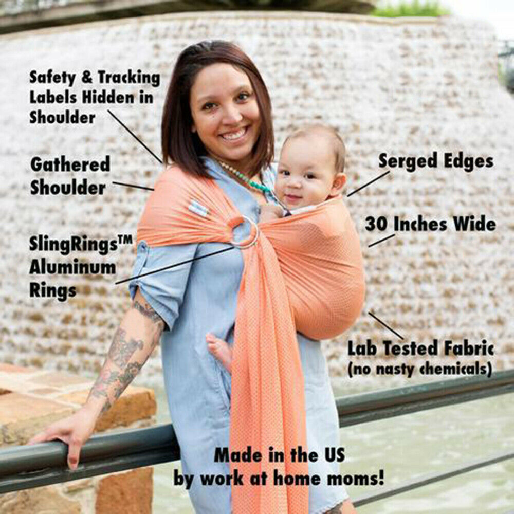 0b93a69e750 Details about Soft Ring Sling Baby Carrier Pouch Wrap Newborn to Toddler  Nursing Carrier -RY62