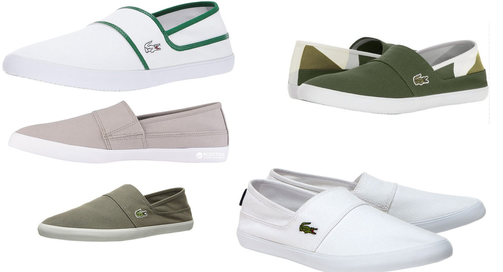 5903fe0892 Details about Lacoste Marice CAM Canvas Slip On Trainers in Wide Range of  Colour Men's Women's