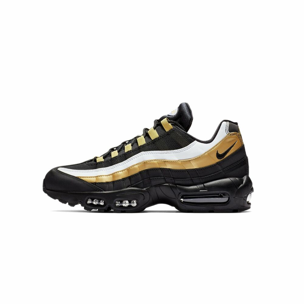 4be4abb07226 Details about Nike Women s Air Max 95 OG Black Gold AT2865-002 Size 9 US