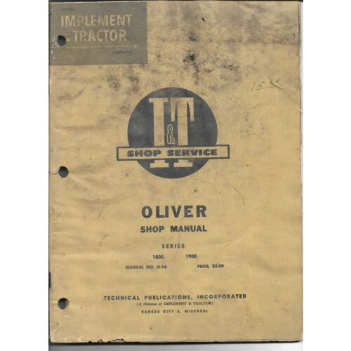 o16-it-shop-manual-for-oliver-models-1800-and-1900-tractors