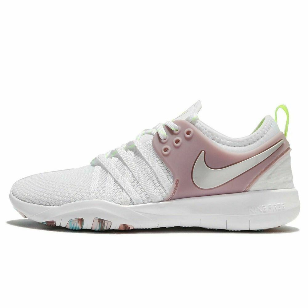 info for 2af77 4994f Details about Nike Women s Free TR 7 Running Shoes White Elemental Rose  904651-102 NEW