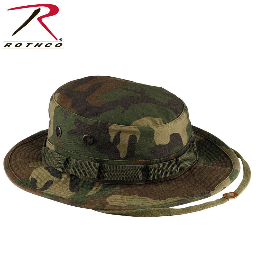 e14ca811379f9 Details about ROTHCO VINTAGE BOONIE HAT WOODLAND CAMO