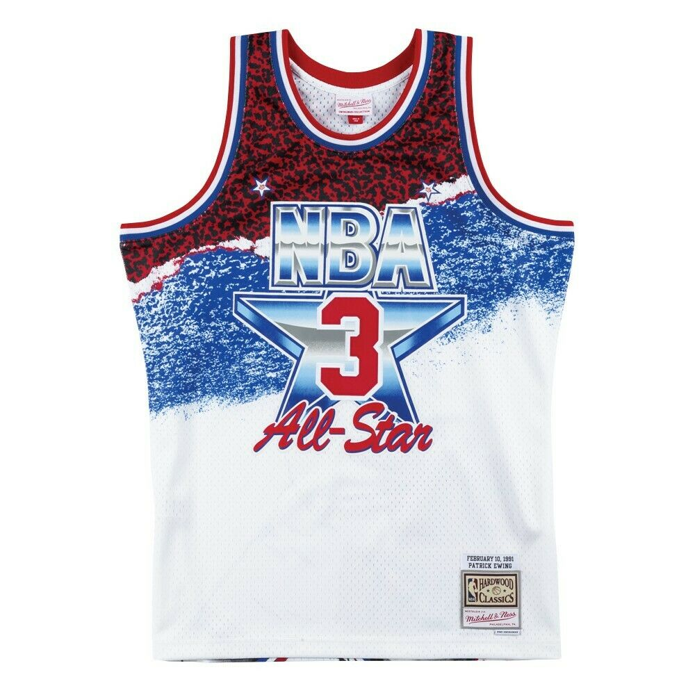 cccdbef26 Details about Mitchell   Ness White NBA 1991 All Star East Patrick Ewing  Swingman Jersey
