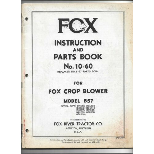 original-fox-model-b57-crop-blower-instruction-and-parts-book-catalog-1060