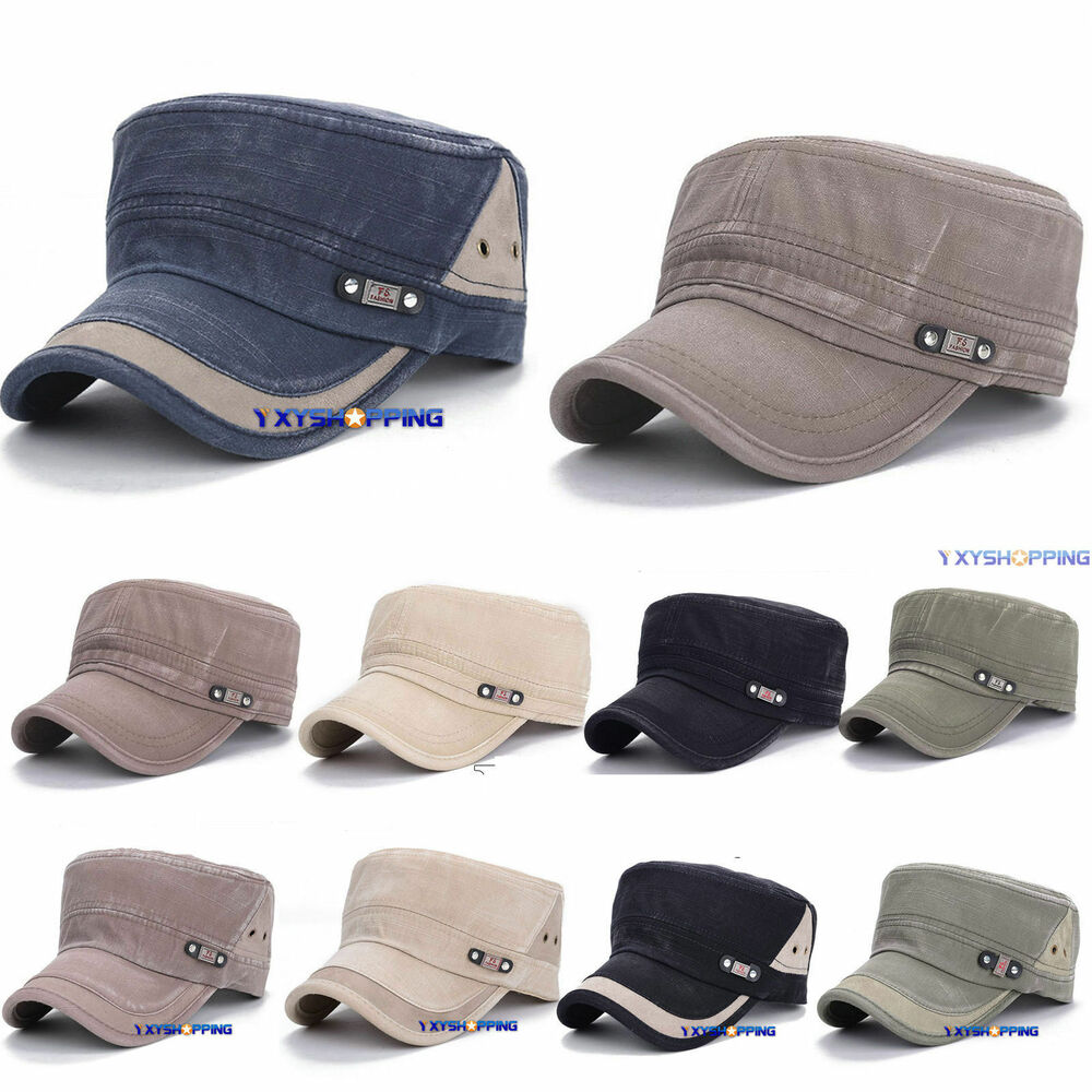 97885253820 Details about Army Cadet Hat Combat Field Military Patrol Castro Caps Men  Women Golf Baseball