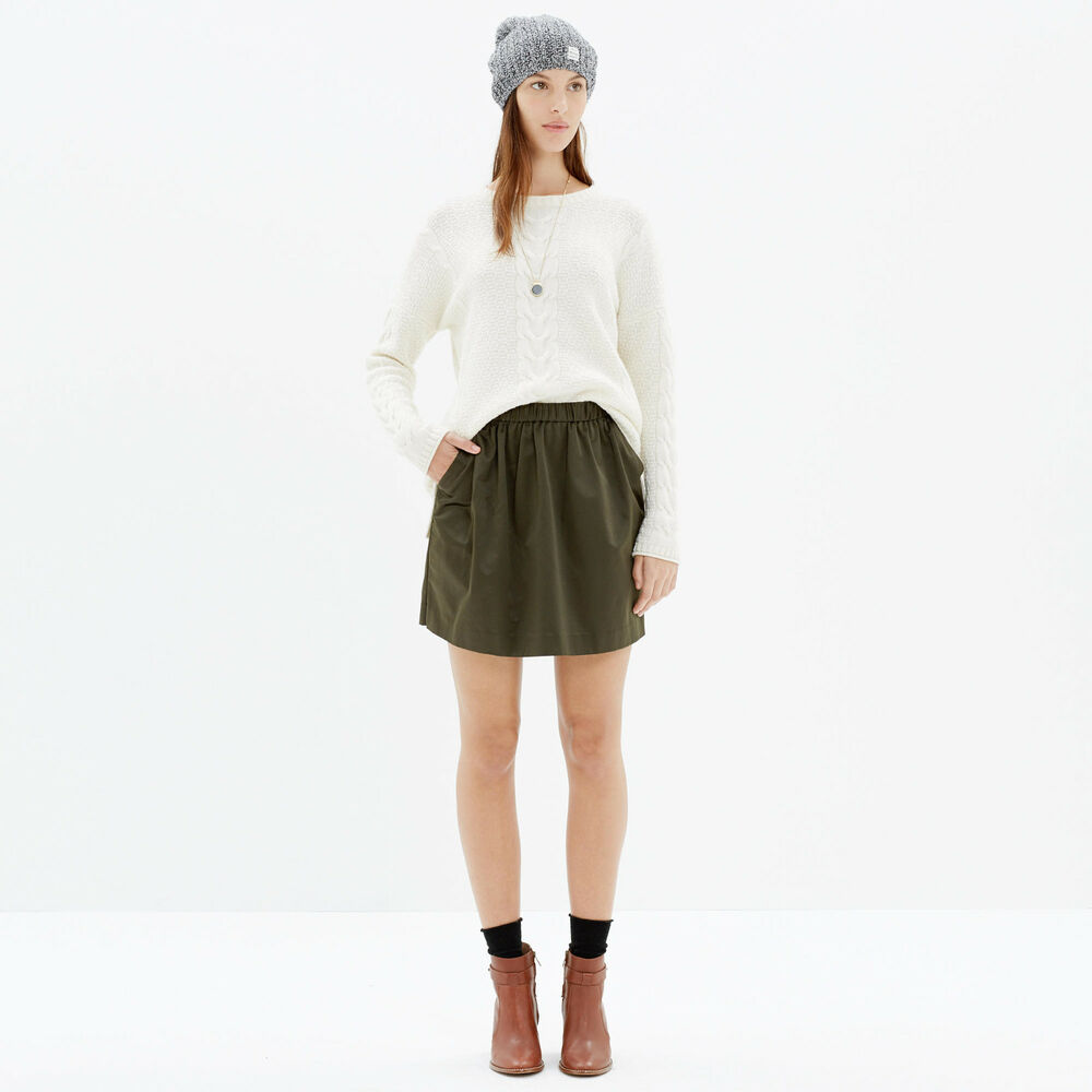 b0bc21249554 Details about Madewell For J.Crew Olive Green Satin Party skirt Size S Mini  skirt