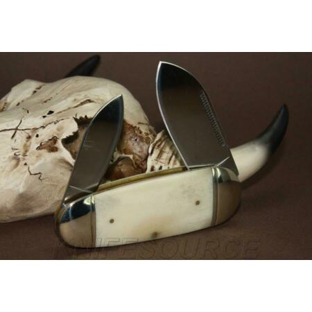 img-Couteau Bouledogue Canif 2 lames Plaquettes Os Rough Rider Sunfish RR139