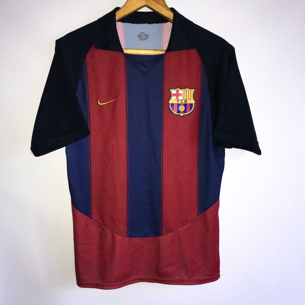 ea863f991ad Details about RARE VINTAGE BARCELONA HOME 2003 04 ORIGINAL FOOTBALL SHIRT  JERSEY NIKE   SIZE S