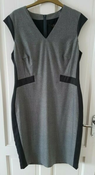 Next Tailoring Black and grey fitted Dress Size 14