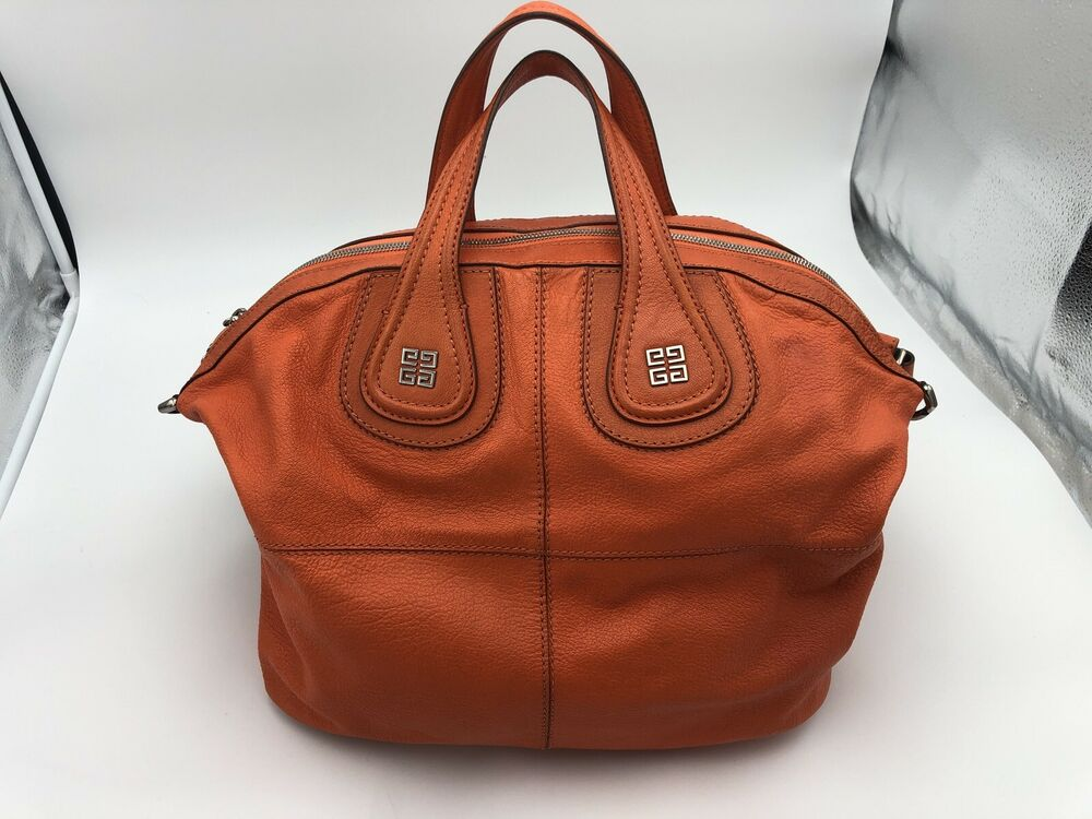 7bf1131d63 Details about Givenchy Nightingale Large Leather Bag (Georgeous RARE  ORANGE) Pre-Owned