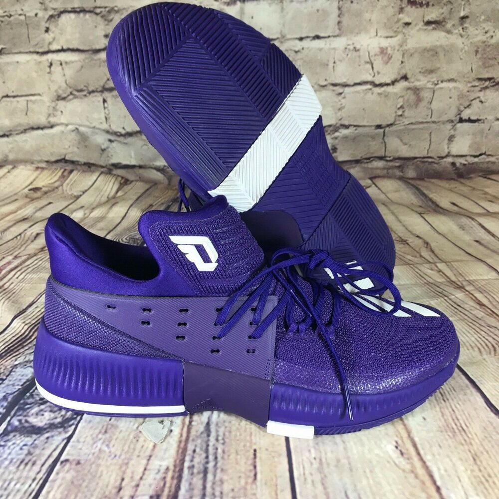 cheap for discount 837c8 57397 Details about Adidas Dame 3 Damian Lillard Basketball Shoes Purple White  Mens Size 12.5 CQ0286