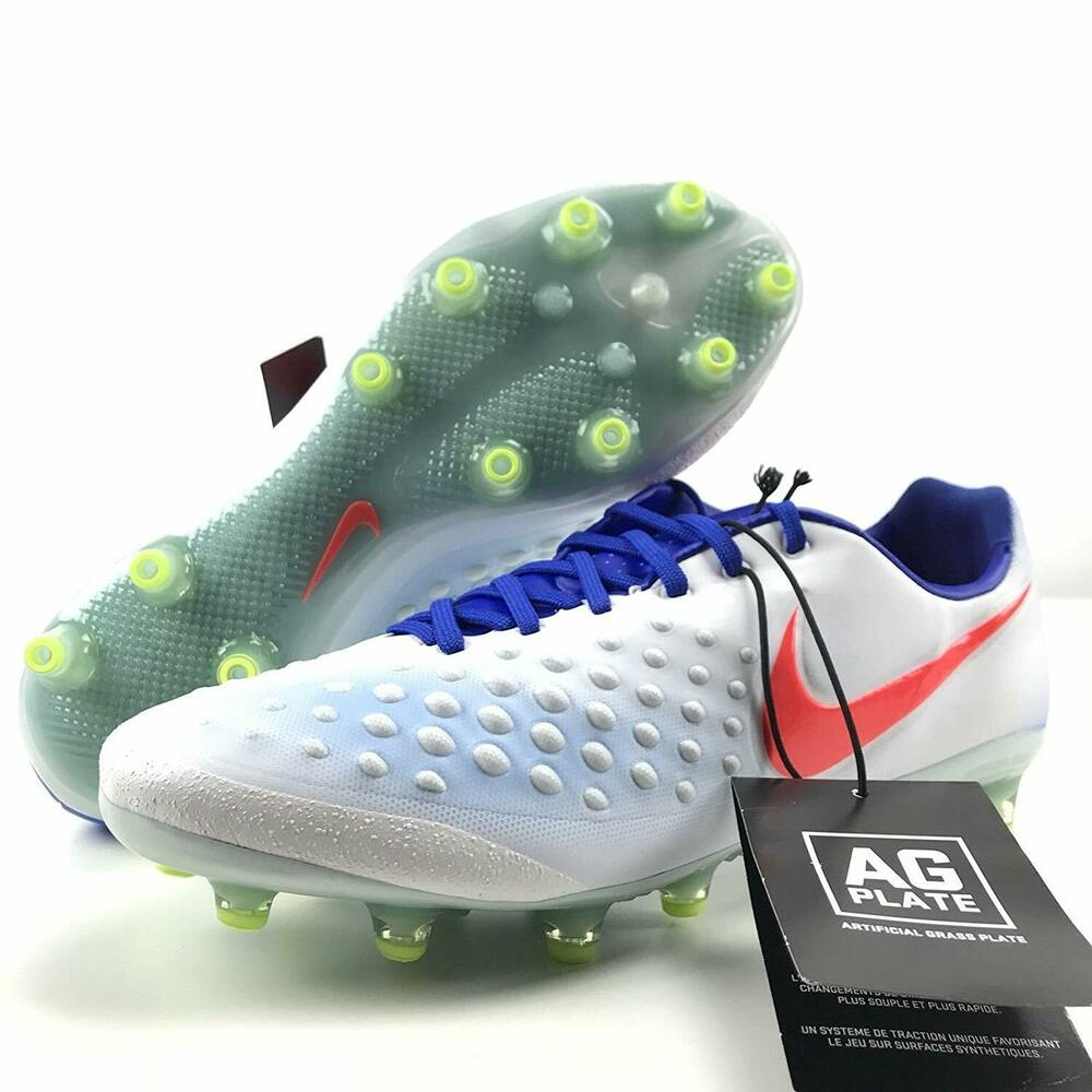 dfd5c0b33d56 Details about NIKE MAGISTA OPUS 2 II AG PRO Soccer Football Cleats Shoes  White Blue Womens 8.5
