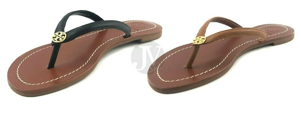 314e37acd Details about BRAND NEW WOMEN S TORY BURCH (55300) TERRA FLAT THONG LEATHER SANDAL  SHOES