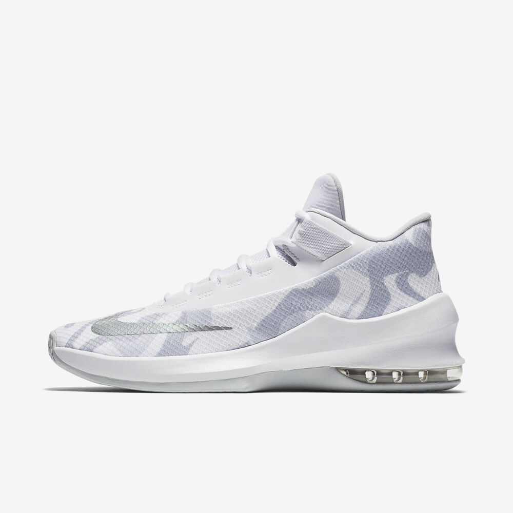 premium selection 90c11 6a5c4 Details about Nike Air Max Infuriate Mid PRM EP AO6550-100 Basketball Shoe  White Silver SZ 10