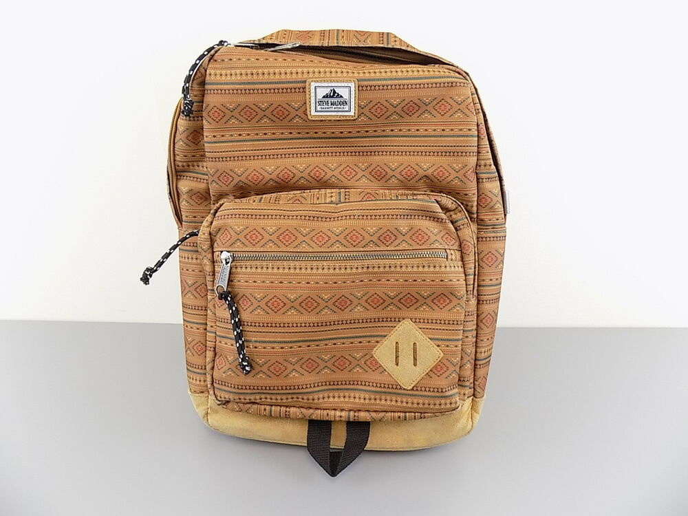 a669a74c09 Details about STEVE MADDEN $100 Brown Backpack MEN 100% AUTH BAG WORK  TRAVEL SCHOOL SALE O09