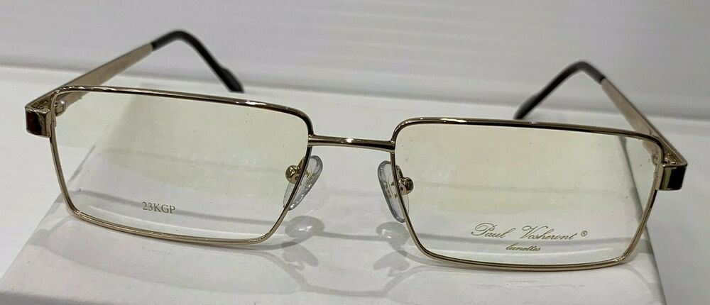 c45a06216ddd PAUL VOSHERONT LUNETTES PV323 GOLD 23KG SEMI RIMLESS FRAMES 57-17-135 ITALY  NEW