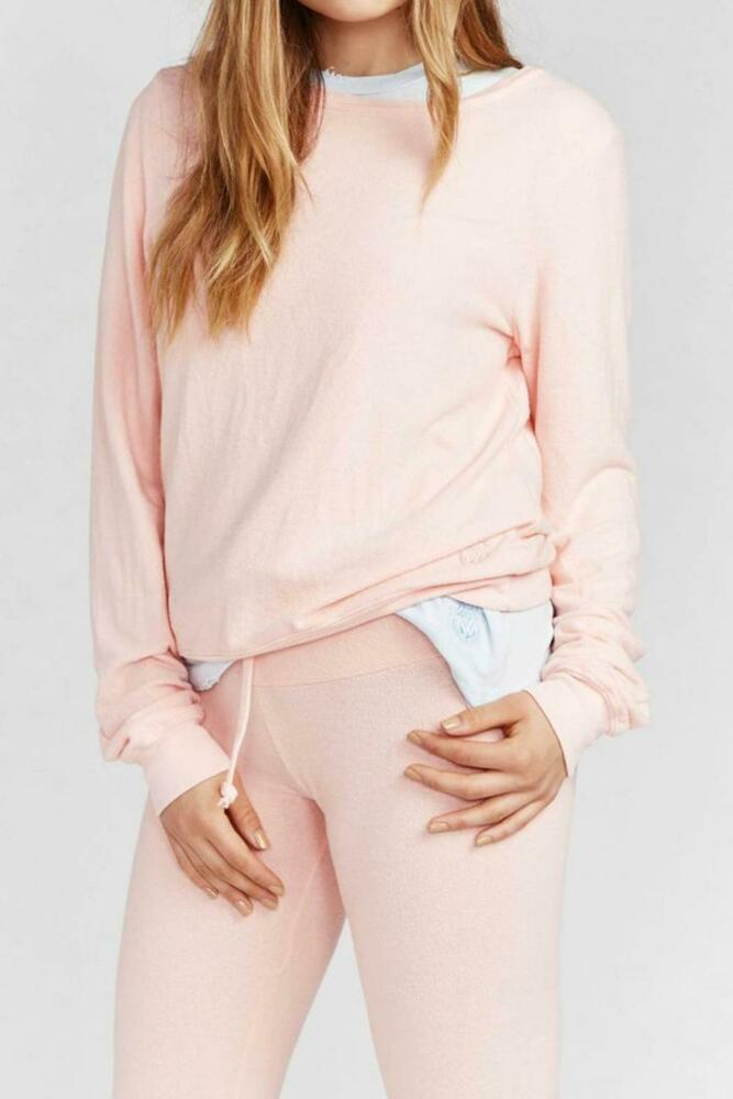 a2d84c872a Details about Wildfox Women's Basic Baggy Pullover in Blush Pink Long  Sleeve Sweatshirt Sz: S