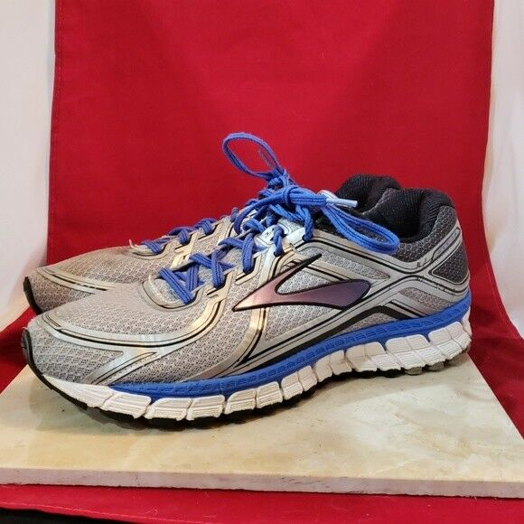 6111a2d8db0 Details about Brooks GTS Silver   Blue - Size 11.5 - No Insole
