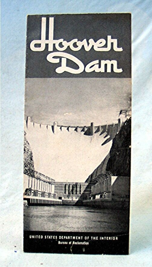 Vintage Souvenir Travel Brochure Hoover Dam With Map Ebay - Hoover-dam-on-us-map