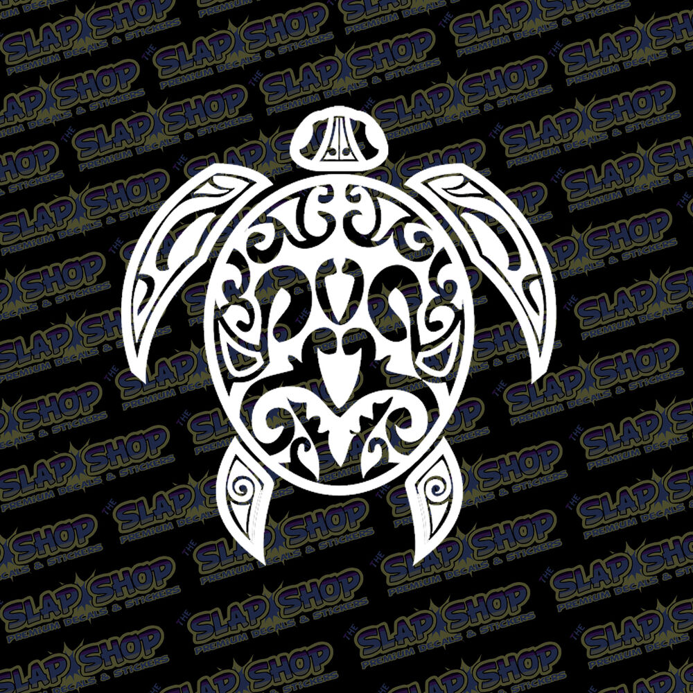 Details about tribal sea turtle vinyl sticker decal design ocean hawaiian hawaii car truck