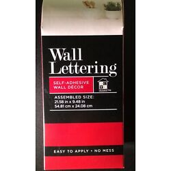 Self- Adhesive Wall Lettering TOGETHER IS A WONDERFUL PLACE TO BE Silver/Black