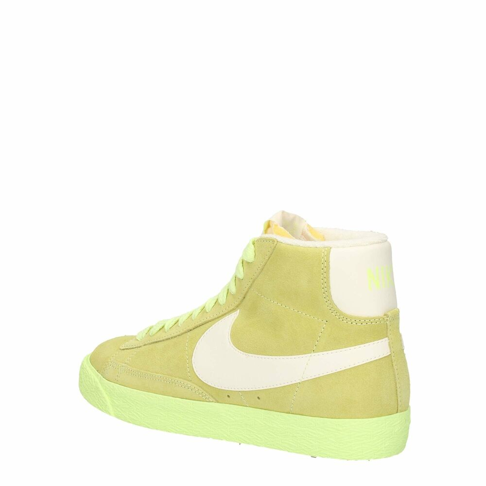 online retailer 35732 34dac Details about Nike Women's Blazer Mid Suede Vintage Lime High Top Lace Up  Swoosh Logo Trainers